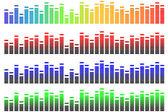 Equalizer pixels — Stock Vector