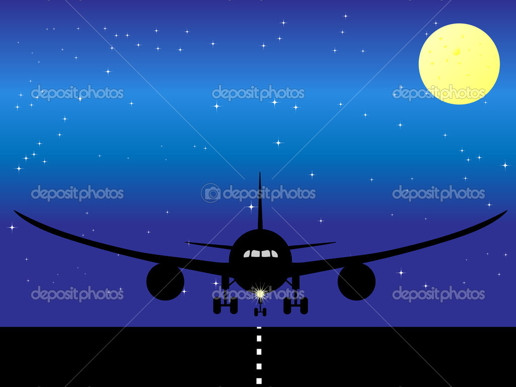 Airplane illustration — Stock Vector #1799374