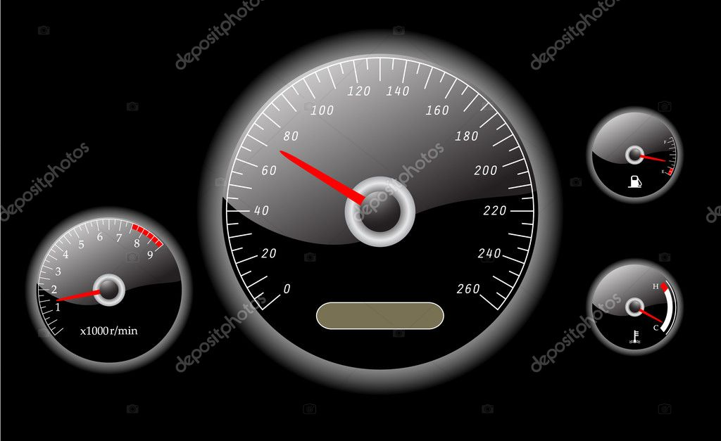 Car dashboard instruments vector illustrated  Stock Vector #1799859