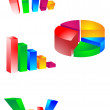 Beautiful 3d business graph illustrated — Stock Vector #1800256