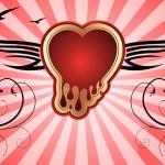 rött hjärta — Stockvektor