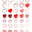 Red heart - Image vectorielle