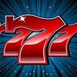 Lucky seven 777 slot machine font — Stock Vector
