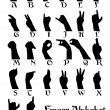 Finger alphabet — Stockvektor #1801916