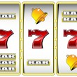 Royalty-Free Stock Vector Image: Lucky seven slot machine vector