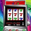 Stock Vector: Lucky seven slot machine vector