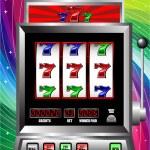 Lucky seven slot machine vector — Stock Vector