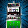 Lucky seven slot machine vector — Stock Vector #1802324