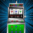 Lucky seven slot machine vector - Stock Vector