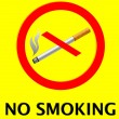 No smoking sign vector illustrated — Stock Vector