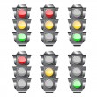 Stock Vector: Semaphore or traffic lights