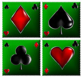Poker card signs — Stock Vector