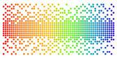 Round Pixel background — Stock Vector