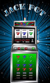 Lucky seven slot machine vector — Stock Vector