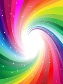 Rainbow colors swirl rays — Stock Vector