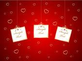 Tarjeta de san valentín — Vector de stock