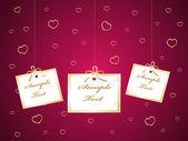 Carte de la saint-valentin — Vecteur