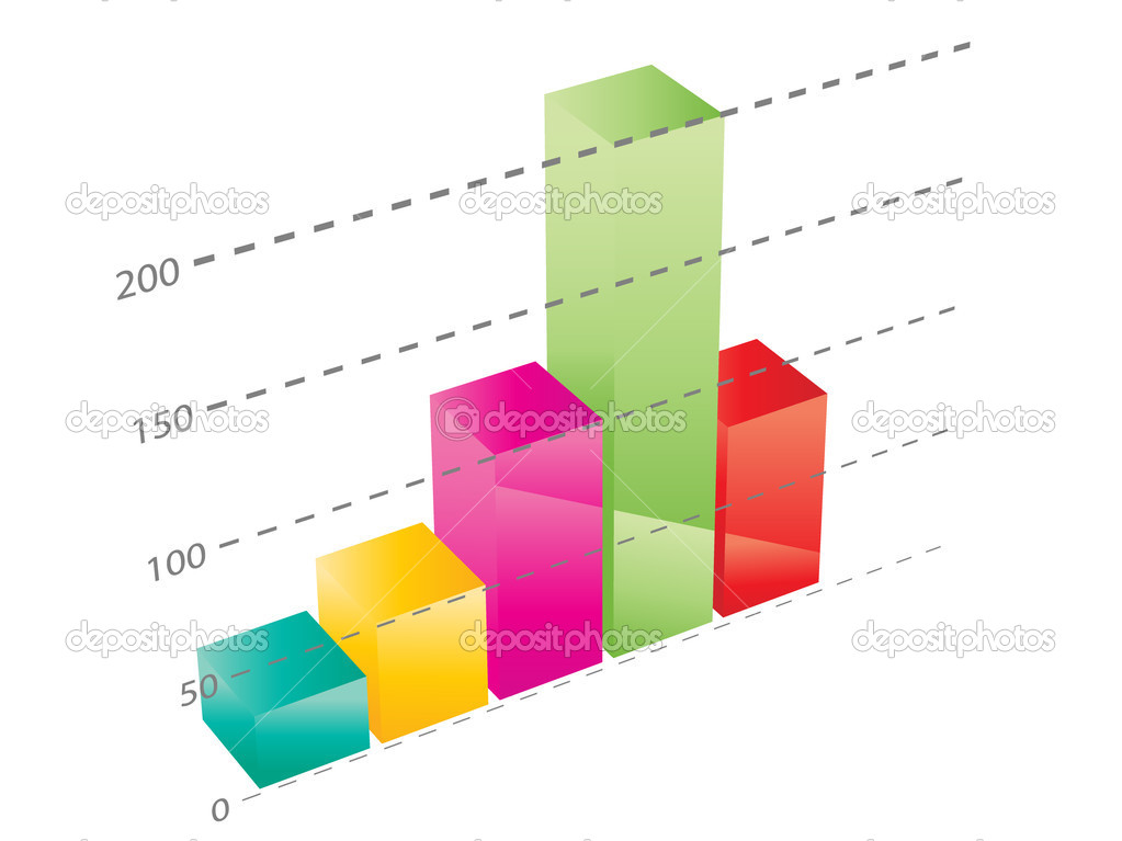 Beautiful 3d business graph illustrated — Stock Vector #1800245