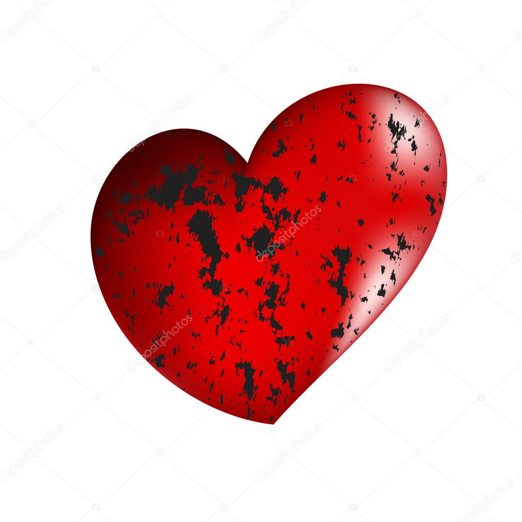 Vector illustration of beautiful red heart  Stock Vector #1800343