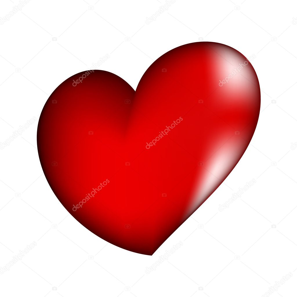 Vector illustration of beautiful red heart — Stock Vector #1800350