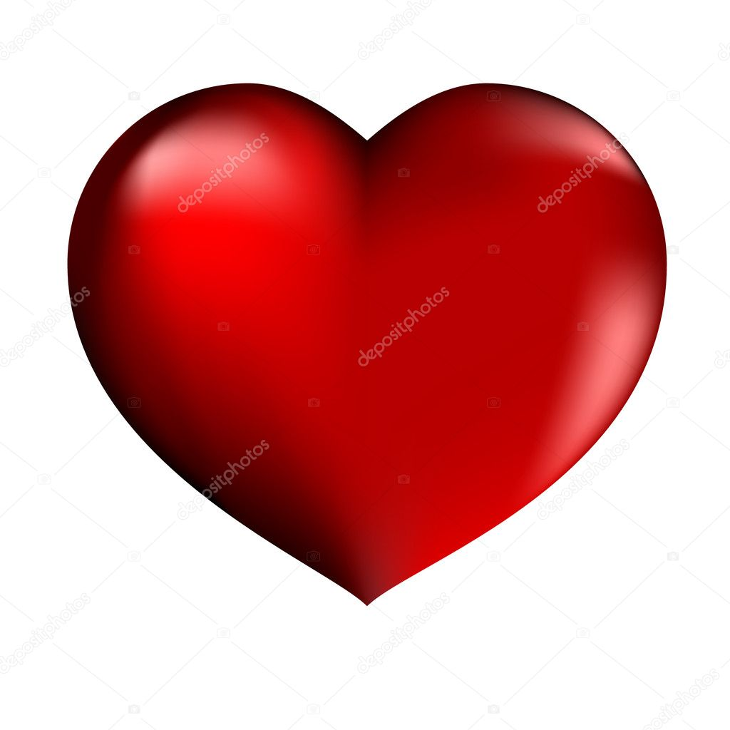 Vector illustration of beautiful red heart — Vettoriali Stock  #1800441