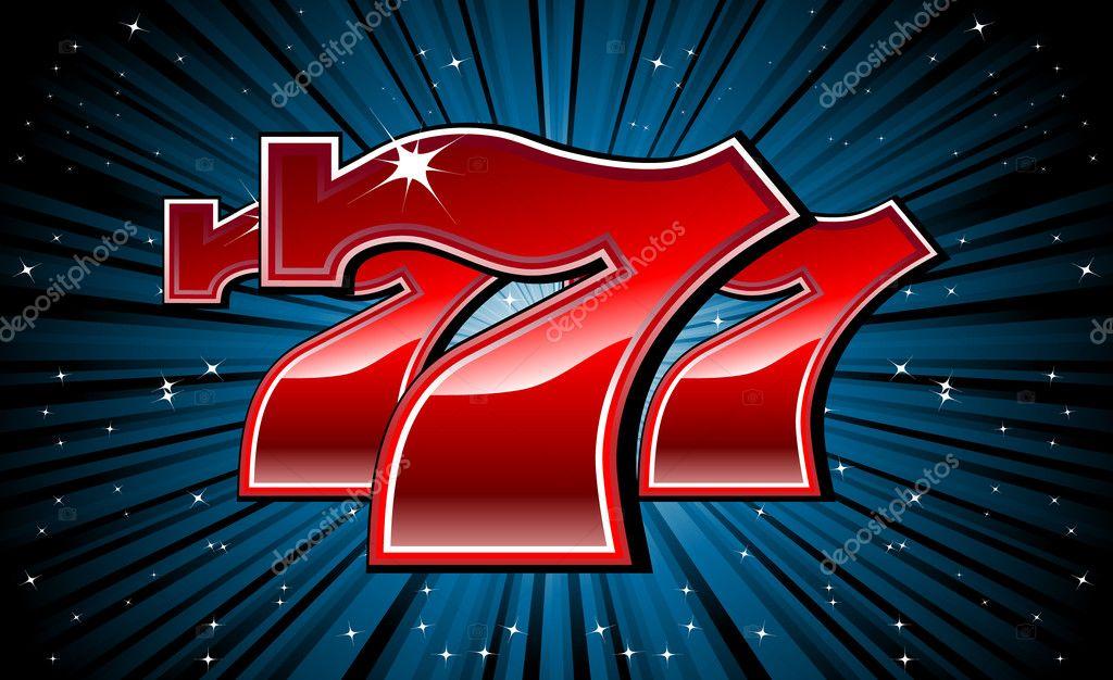Slot machine 777 font
