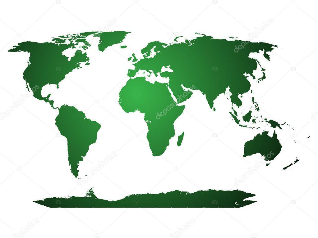 World Map Cartoon Globe World Map Globe Illustrated
