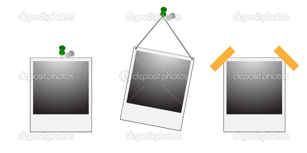 Vector illustration of emty photo frames — Stock Vector #1801769