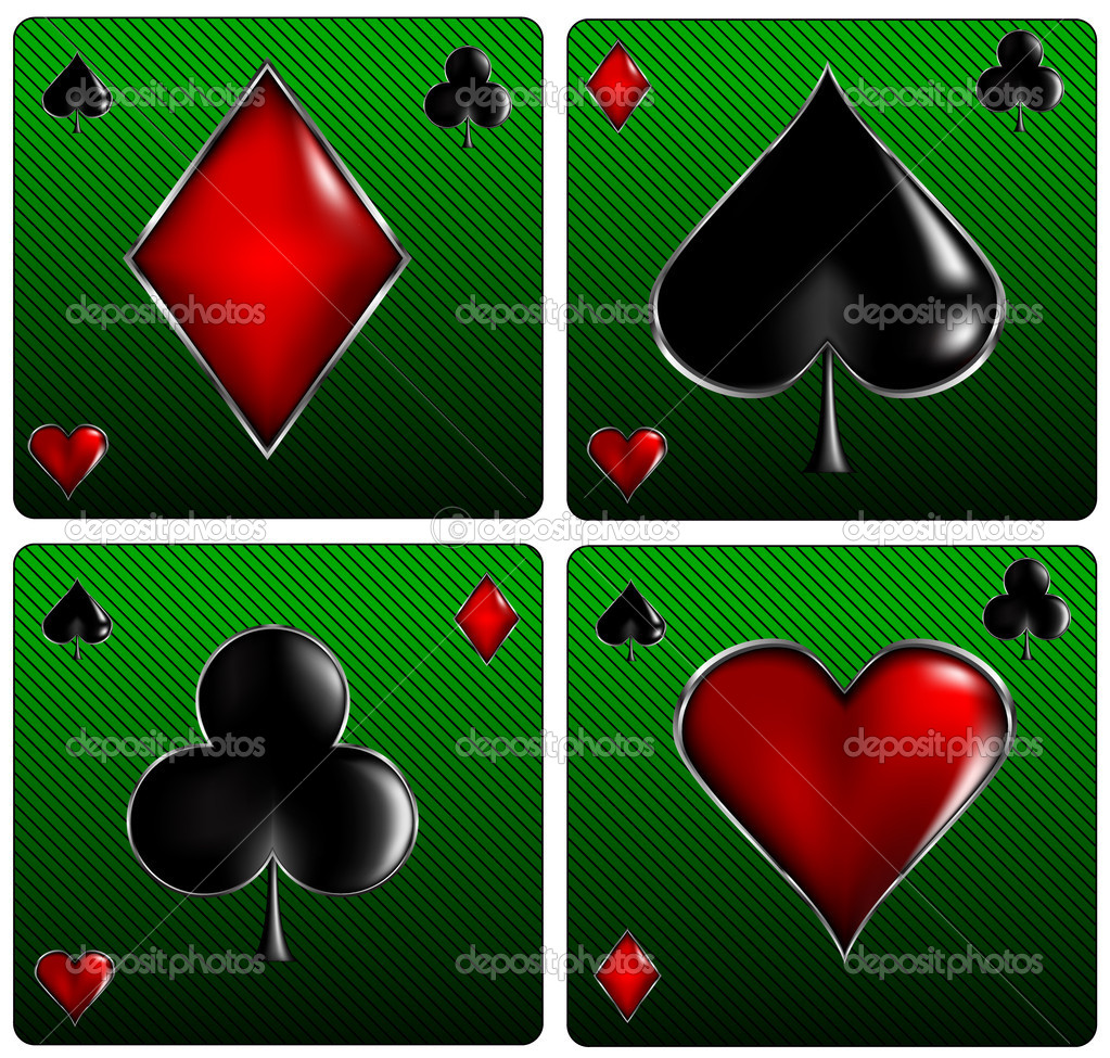 Poker Card Signs — Vector