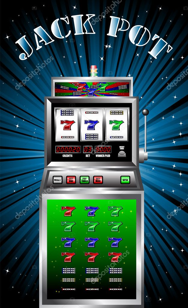 Lucky seven slot machine vector illustration  Stock Vector #1802324