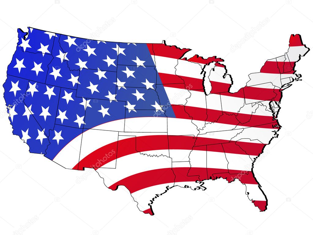 vector illustrated united states map   — Stock Vector #1803011