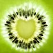 Kiwi fruit heart shape - Stock Photo