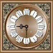 Vector illustration of Antique clock — Imagen vectorial