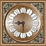 Векторная иллюстрация антикварные часы — Cтоковый вектор
