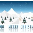 2010 Merry Christmas post card vector — Stock Vector