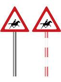 Road warning sign — Stock Vector