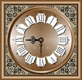 Vector illustration of Antique clock — Stock Vector