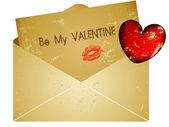 Day valentine envelope letter — Stock Vector