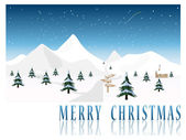 2010 Merry Christmas post card vector — Vector de stock