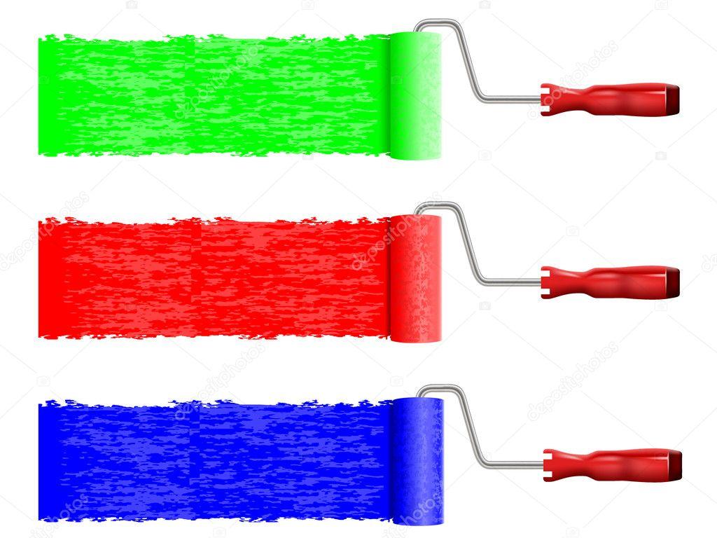 Ilustraci n vectorial del rodillo de pintura vector de - Rodillos de pintura ...