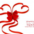 Stock Photo: Day Valentine beautiful red ribbon