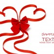 Day Valentine beautiful red ribbon — Stockfoto #1833594