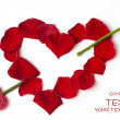 Day Valentine red rose petals — Stock Photo