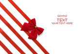 Day Valentine beautiful red ribbon — Stock Photo