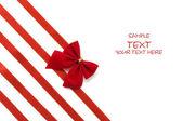 Day Valentine beautiful red ribbon — Stock Photo