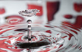 Water drop as day valentine background — Stock Photo