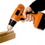 Use battery screwdriver — Stock Photo