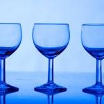Three glasses — Stock Photo