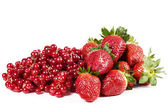 Strawberry and currants — Stock Photo
