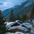 Typical alpine wooden houses — Stock Photo #1895558